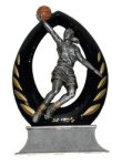 Arch Line -Basketball  Female Arch Resin Trophy Awards